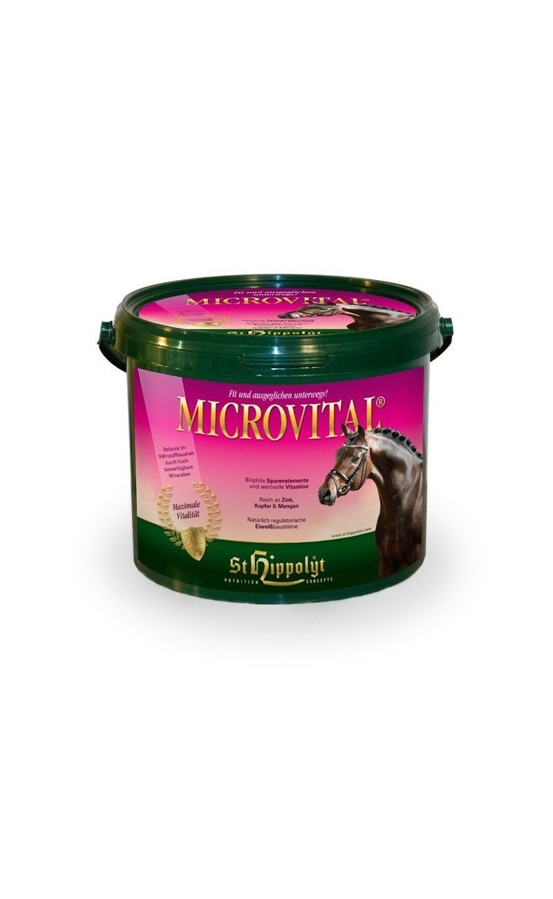 MicroVital de St Hippolyt compensar estados carenciales del caballo como cansancio, bajo rendimiento, poca fuerza etc.