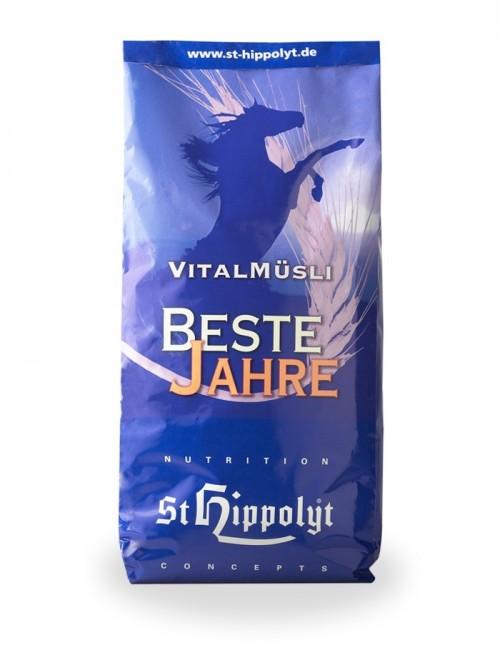Pienso Vitalmüsli Beste Jahre de St Hippolyt. Reconstituyente rico en nutrientes para caballos mayores o sensibles