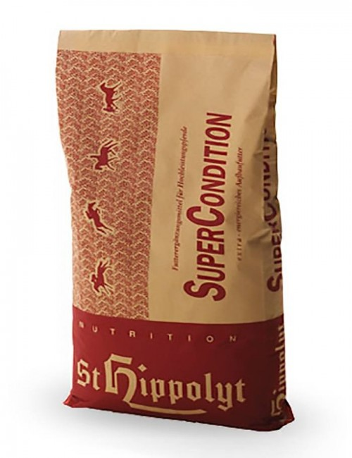 Super Condition  de St. Hippolyt suministra nutrientes específicos importantes para el metabolismo muscular del caballo