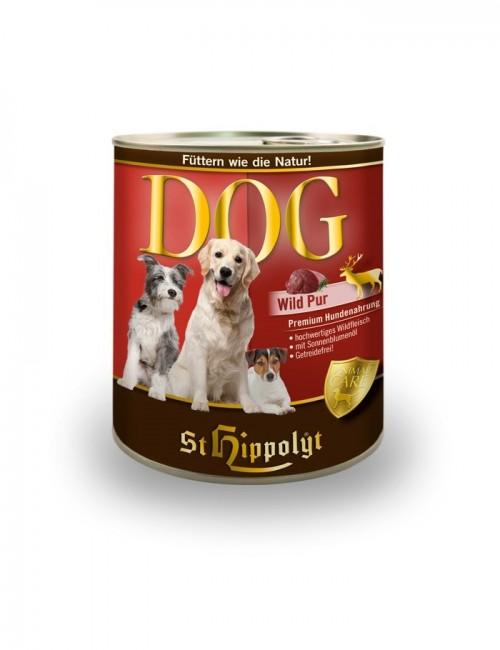 lata de carne comida perro Dog Fleish Wild de st hippolyt