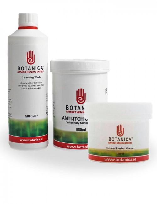 La Crema Botanica de St Hippolyt hidrata, suaviza y calma la piel del caballo de forma natural.