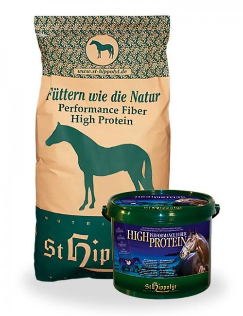 Performance Fiber High Protein de St Hippolyt para caballos que necesitan vitalidad y masa muscular