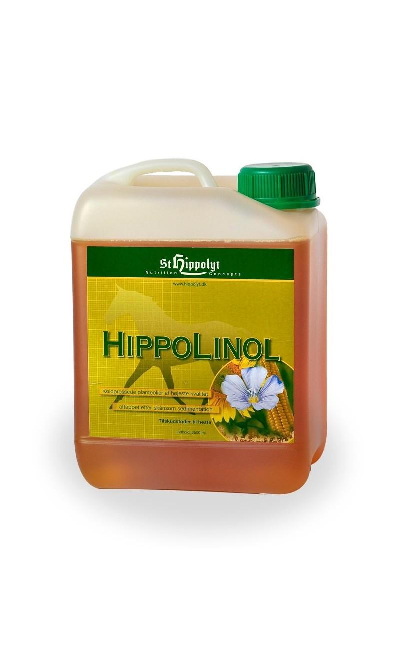 HippoLinol es una composición equilibrada de aceites de linaza, girasol, maíz y germen de trigo de St. Hippolyt.